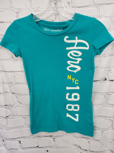 Aeropostale girls top green S/L 8