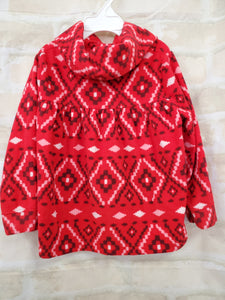 Old Navy girls top L/S red fleece 3T