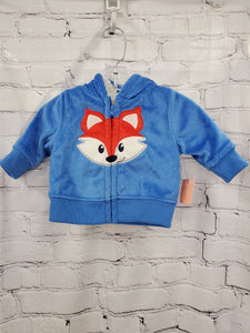 Healthtex boys jacket blue hooded lined 0-3