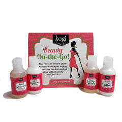 On the Go Travel Set Pink Grapefruit