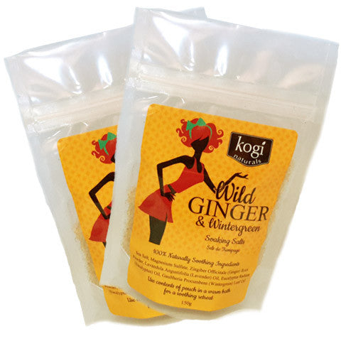 Bathing Salts - Wild Ginger & Wintergreen  2 Pack