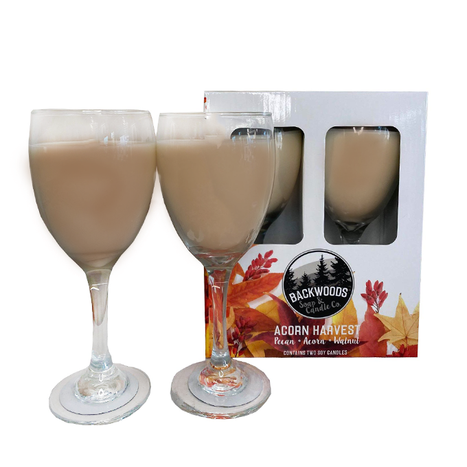 Acorn Harvest Wine Glass Set