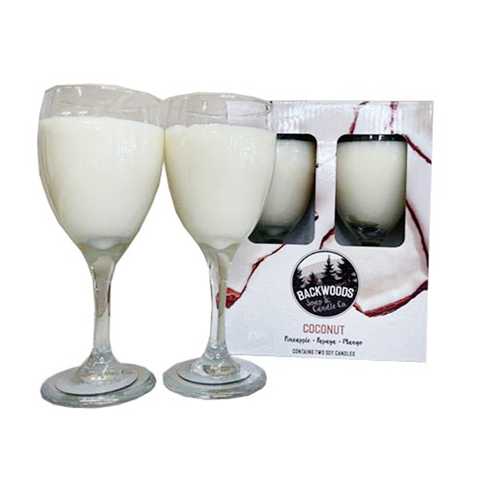 Coconut wine glass