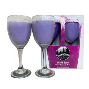 Grape soda wine glass set