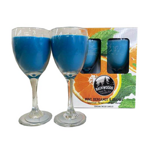 Mint bergamot and orange wine glass set