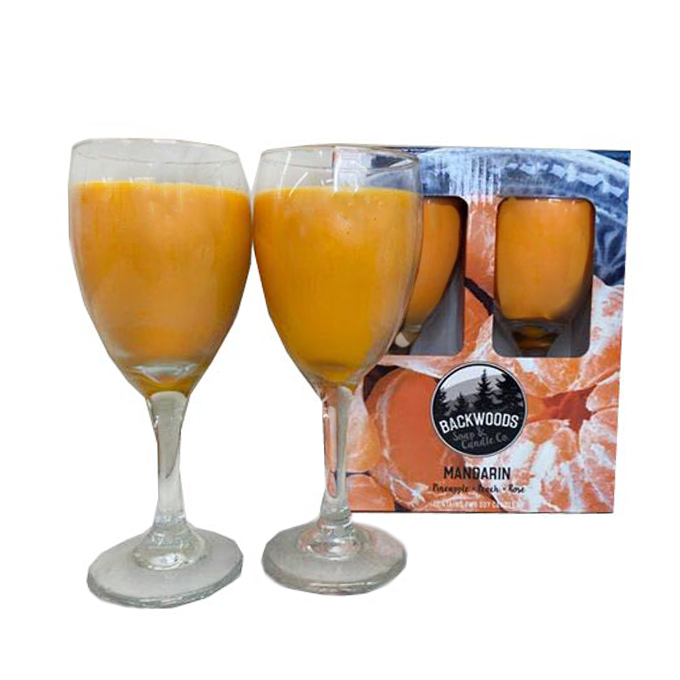Mandarin wine glass