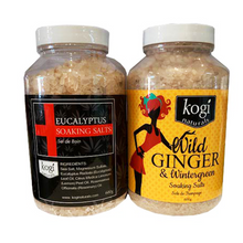 Load image into Gallery viewer, Wild Ginger & Eucalyptus Salt Duo 600g