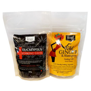Wild Ginger & Eucalyptus Salt Duo 150g