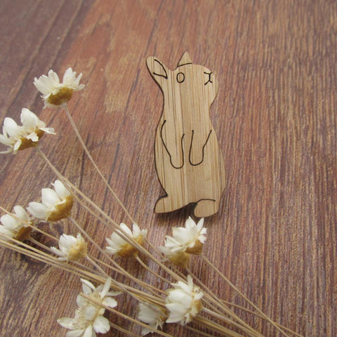 Wooden Woke Rabbit Pin