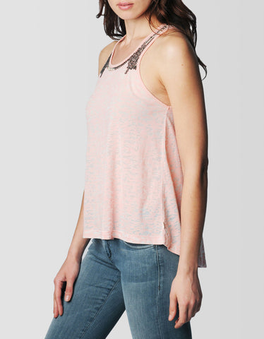 SHOULDER BEADED WOMENS TANK