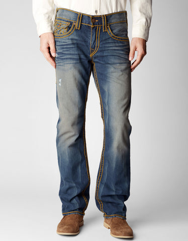 RICKY STRAIGHT ROPE STITCH MENS JEAN