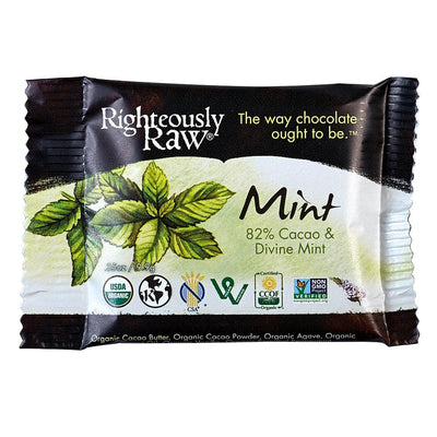 82% Raw Cacao Divine Mint Bite - Righteous Cacao