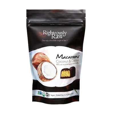 Dark Chocolate Coconut Macaroon Pouch (5 Pack) - Righteous Cacao