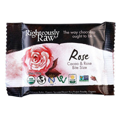 Raw Chocolate Rose Bite-Size - Righteous Cacao