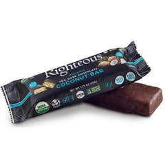 Vegan Chocolate Coconut Bar - 75% Pure Dark Chocolate - Righteous Cacao