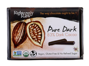 Righteously Raw Pure Dark Chocolate Bar