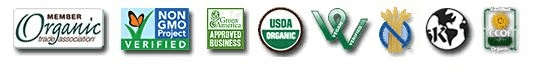 Certified organic green vegan kosher