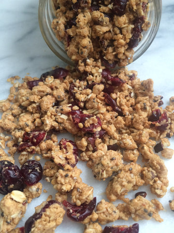 Vegan Cranberry Protein Crumble