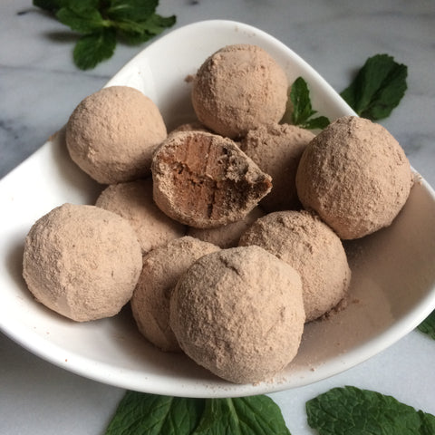 Mint Chocolate Protein Truffles