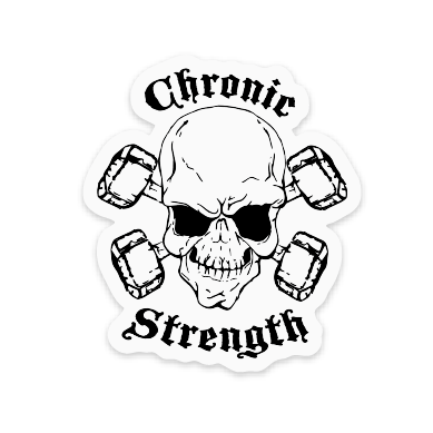 Chronic Strength Clear Decals