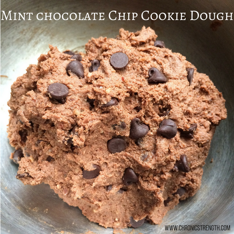Mint Chocolate Chip Protein Cookie Dough