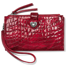 Load image into Gallery viewer, Brighton Bellissimo Heart Double Zip Wallet (Red)