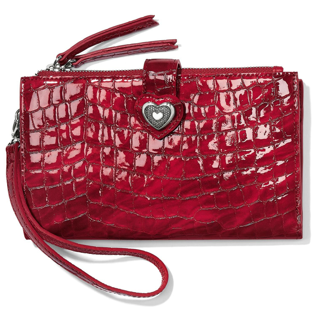 Brighton Bellissimo Heart Double Zip Wallet (Red)