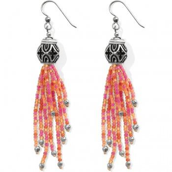 Brighton Boho Roots Coral Tassel French Wire Earrings