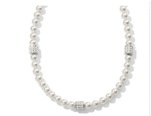 Load image into Gallery viewer, Brighton Meridian Petite Pearl Station Necklace