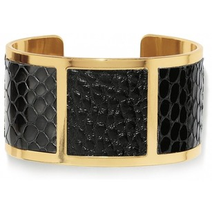 Brighton Nicks WIde Gold Black Cuff Bracelet