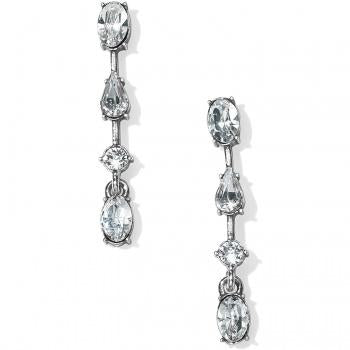 Brighton One Love Slim Crystal Post Drop Earrings