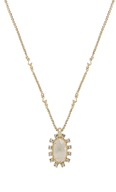 Kendra Scott Gold Rock Crsytal Brett Necklace