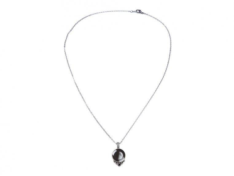 Moonglow Phase 4D Pewter Necklace