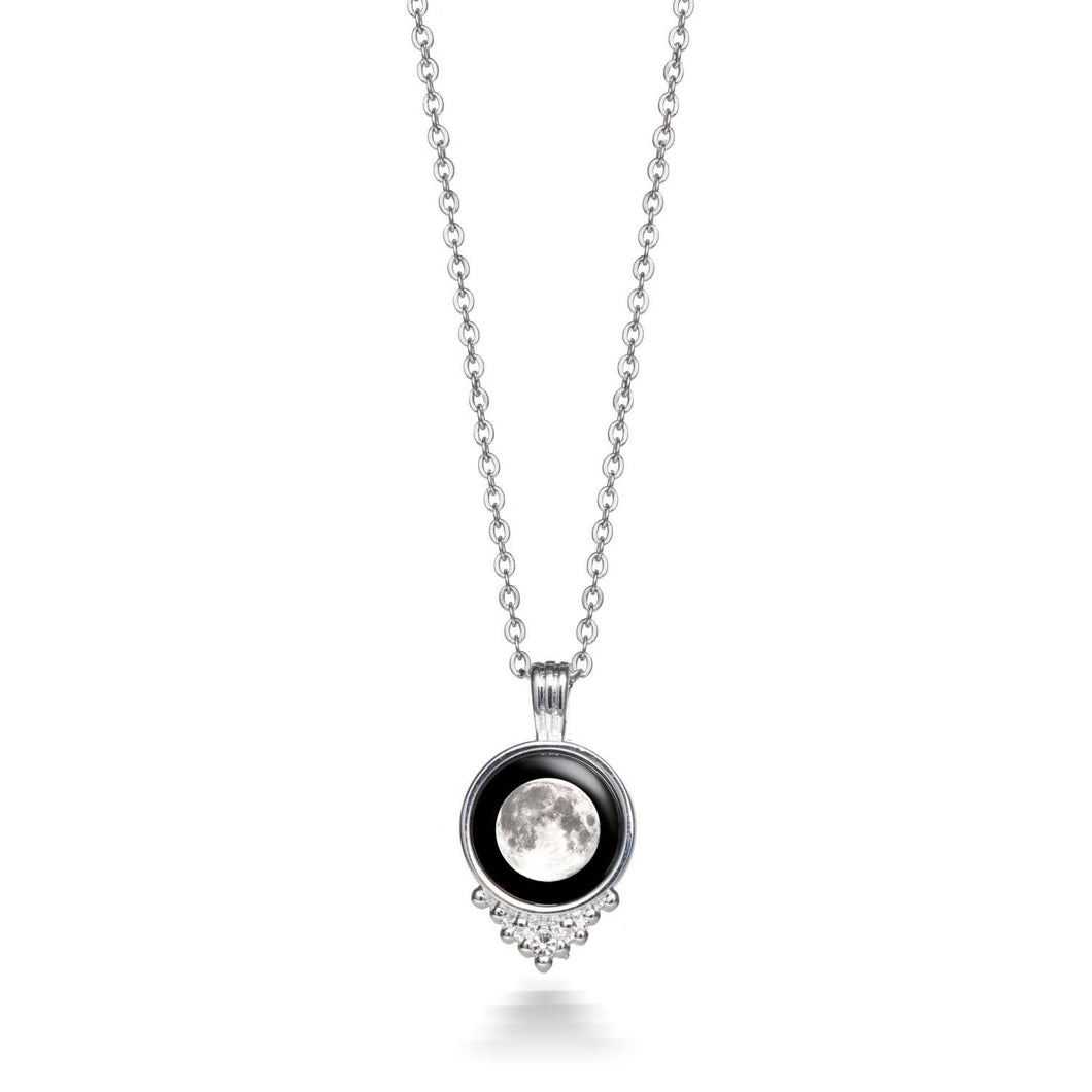 Moonglow Phase PL Pewter Necklace
