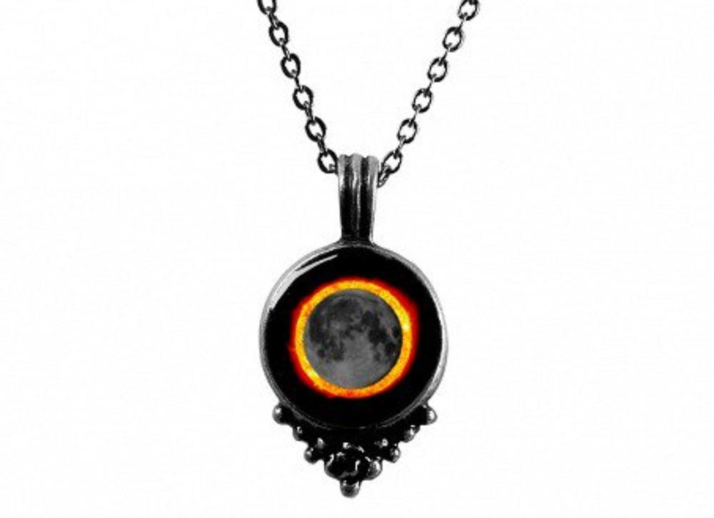Moonglow Phase SE Pewter Necklace