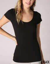 Load image into Gallery viewer, Niki Biki Cap Sleeve Scoop Neck Top