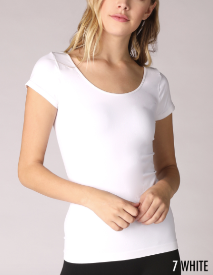 Niki Biki Cap Sleeve Scoop Neck Top