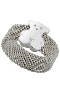 TOUS Icon Bear Mesh Ring - 7