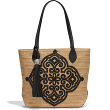 Load image into Gallery viewer, Brighton Sena Straw Medallion Tote