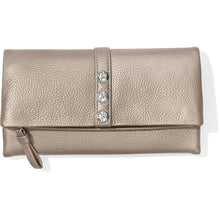 Load image into Gallery viewer, Brighton Nolita Shimmer Large Wallet Zinc Pearl