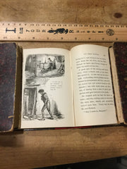 Set of three volumes: Hood's Serious Poems,  Thackeray's Paris Sketch Book and the Chimes by Dickens all published by Routledge in 1886.