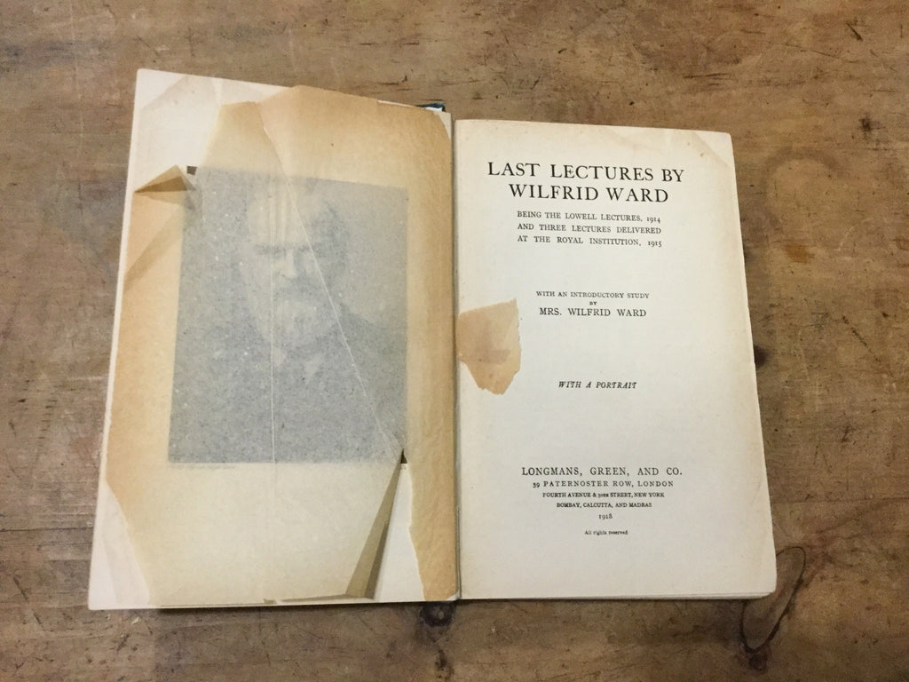 Last Lectures by Wilfred Ward