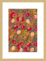 Garden of Live Roses A3 mounted print