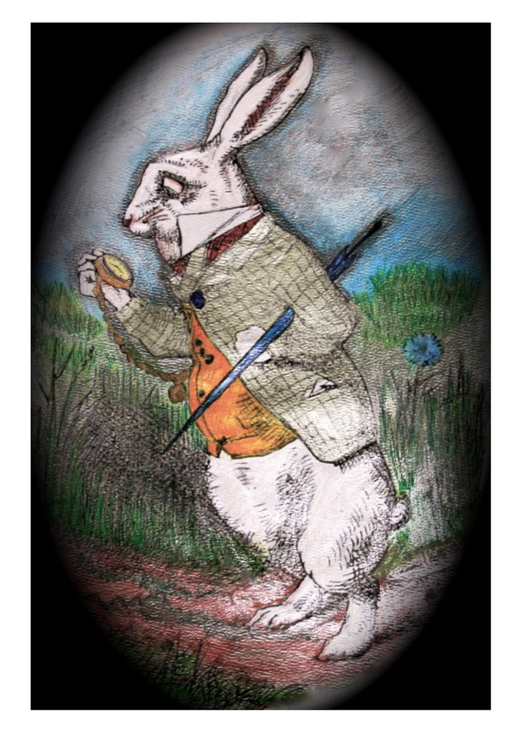The White Rabbit- Greetings card