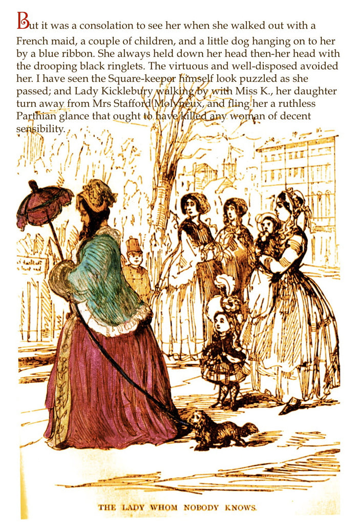 Thackeray's Women- 'The Lady whom nobody knows' Greetings card