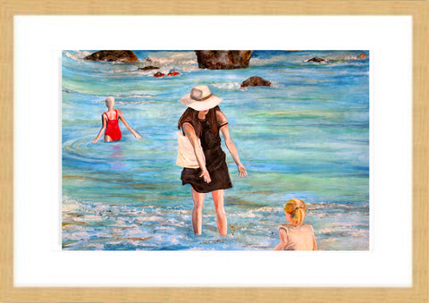 Bathing in Freshwater Bay Limited edition print
