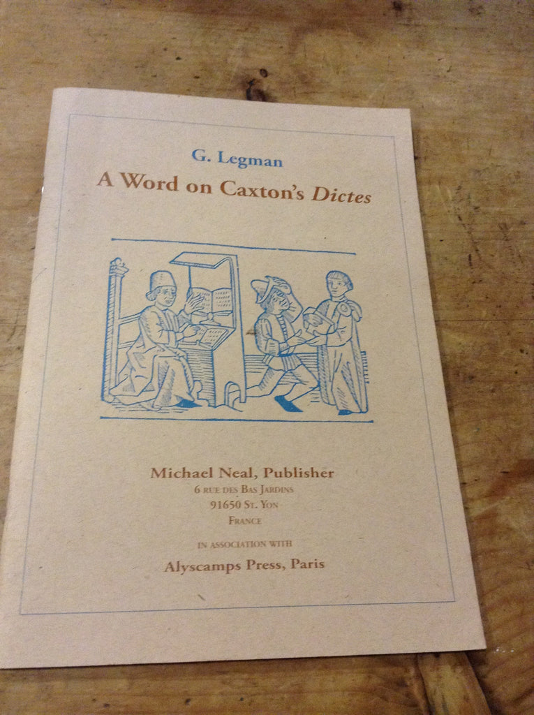 A Word on Caxton's Dictes