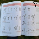 The bamboo construction manual allows you to make dry bamboo sections easily.