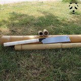 The Japanese saw can cut dry bamboo