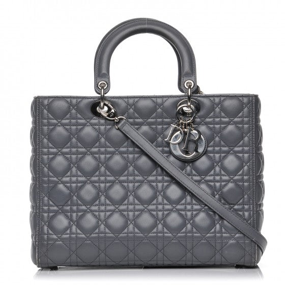 95c16cdb52 Christian Dior Lady Dior Handbag Cannage Quilt Lambskin Large We Offer You:  $800